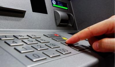 finger using ATM machine